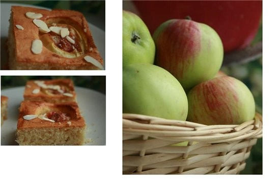 яблочные пирожные с рубленым миндалем
