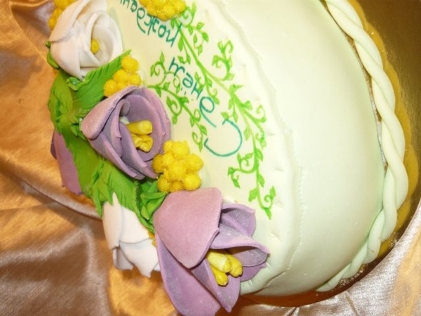 торт весенний букет - 2