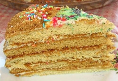 """А на десерт очень вкусный тортик """"Царский"""" от Jazzinitup, пекла вчера вечером, пробовали сегодня - 2"""