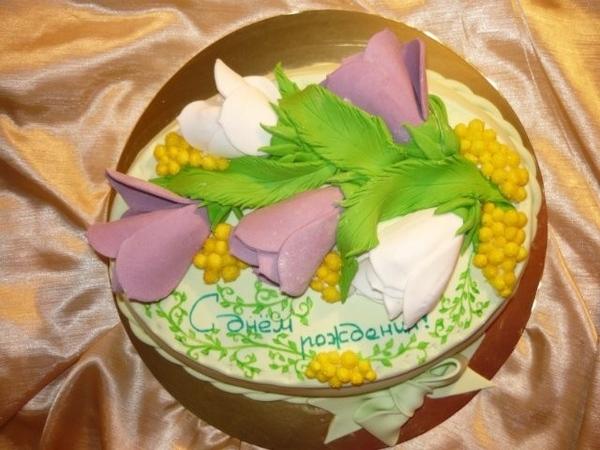 торт весенний букет