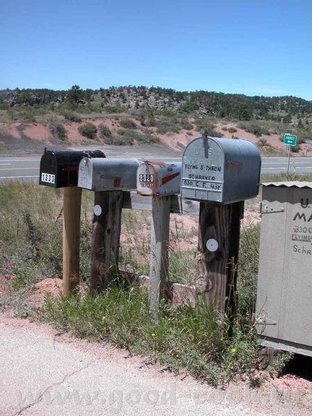 Почтовые ящики - ещё одна емблема Америки