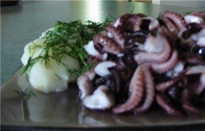 Octopus alla La Risacca Мой вариант рецепта и фото оригинал эдесь 500-700 гр