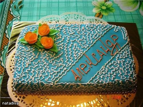 это мой простенький ,сегодняшний тортик