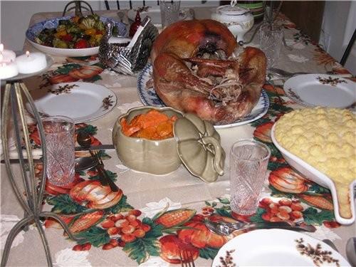 А у нас ужин на День Благодарения