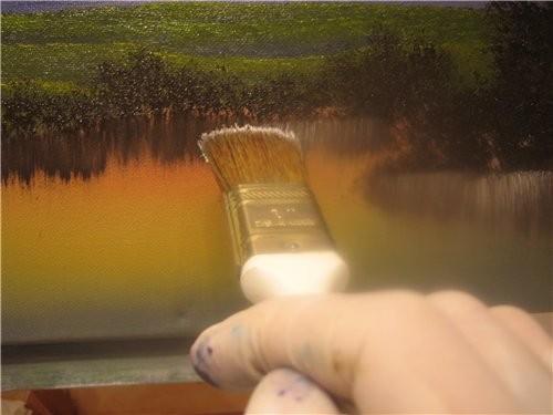 Вот таким образом мы рисуем кусты и деревья и получаем такую картинку 12 - 3