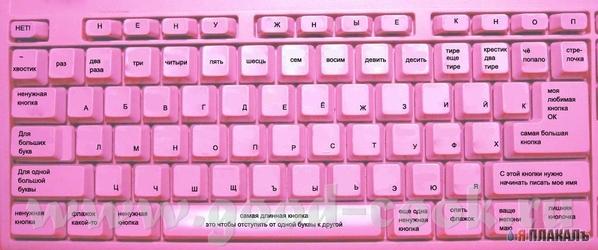 """Кстати, реальная вещь - продается в Интернет-магазинах """"Клавиатура для блондинок"""" - 3"""