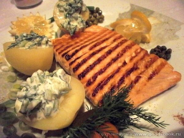 Начну я с очень вкусного и простого рецепта лосося