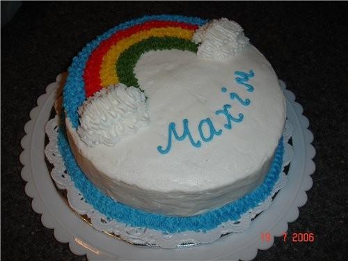А вот еще несколько тортиков, украшенных этим кремом Это был просто тренировочный для домашнего пот... - 2
