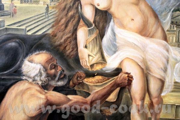 Девочки мальчики посмотрите копию Нишии и фортуна холст масло 1 м 10 см на 80 см делал почти 4 меся... - 4