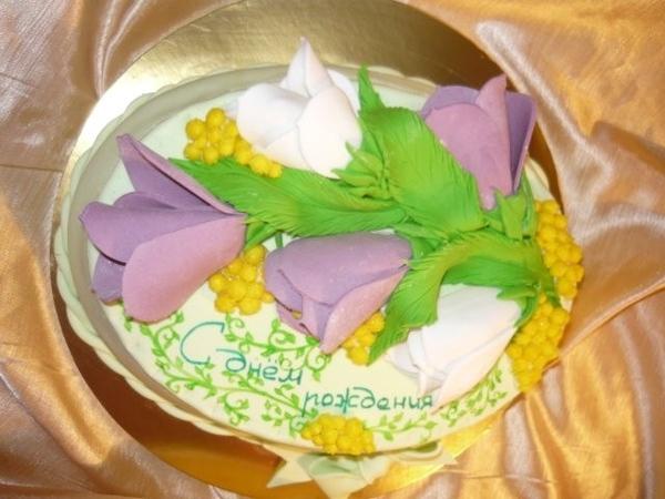 торт весенний букет - 3