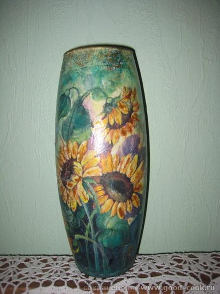 ваза подсолнухи