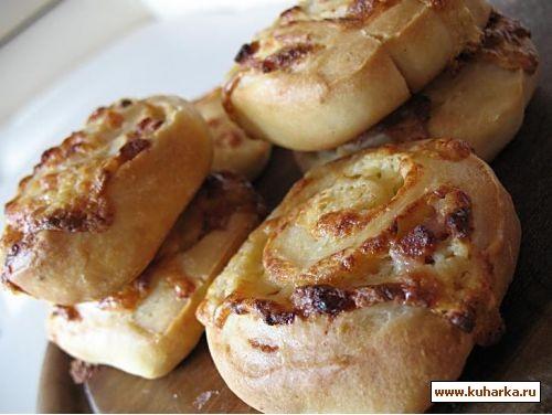 крекеры с кунжутом и перцем сырные рулетики с ветчиной и горчицей - 2