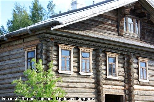 А эти дома вывезены из разных северных деревень и собраны в Мандрогах - 5