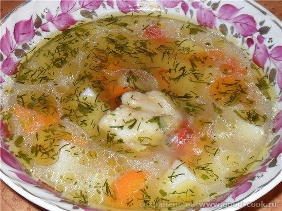 """Сегодня готовила очень простой, но очень вкусный супчик """"Жареный"""" куриный суп Источник: форум Кухарка"""