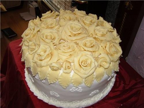 мои первые свадебные торты, kotorye delala dlya podrugi vchera - 4
