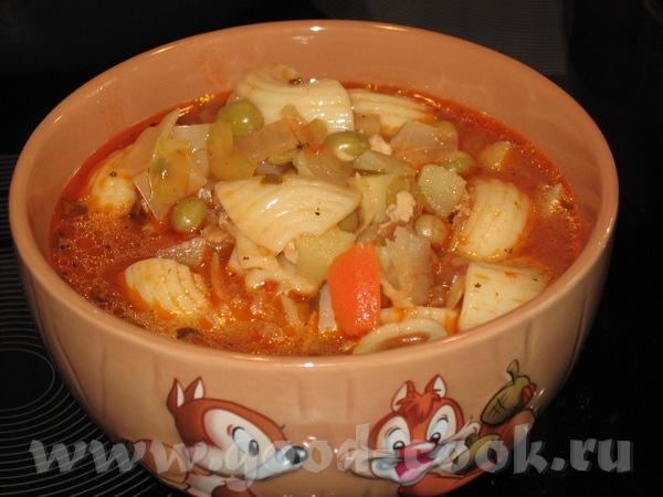 """, Люся, Алёна, успели заметить суп был """"неправильный"""" - без томатов и со спагетти вместо рожков, я... - 2"""