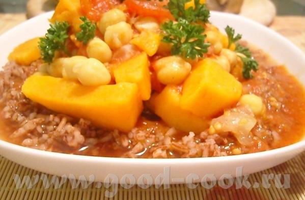 """Блюдo от Cher, """"Вегетарианские хроники"""": Овощное рагу с горохом нут Я приготовила это овощное рагу"""