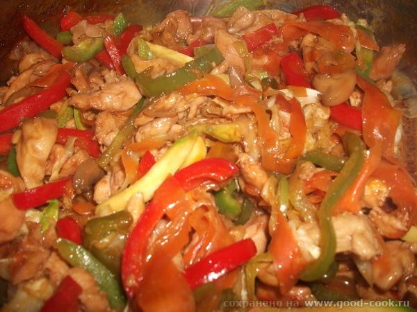 мясо и овощи по китайски