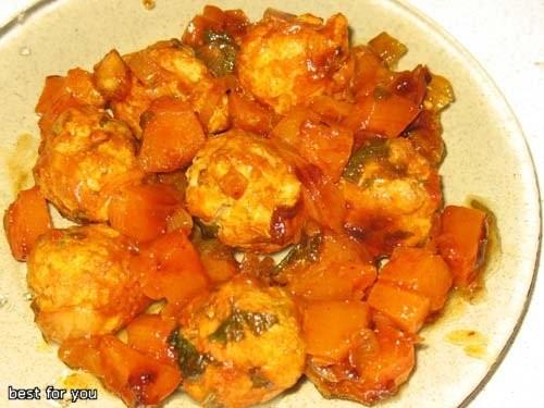 А у меня на обед вчера были: Тыквенно-куринные тефтельки и Геркулесовый пирог с яблоками и сухофрук...