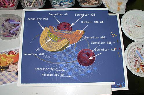 Маслянная пастель Pat Isaac Маслянная пастель Урок мастер-класс от Pat Isaac - натюрморт маслян... - 2