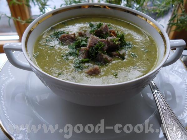 Картофельно-цукинеевый суп-пюре с фрикадельками (на 2 персоны)