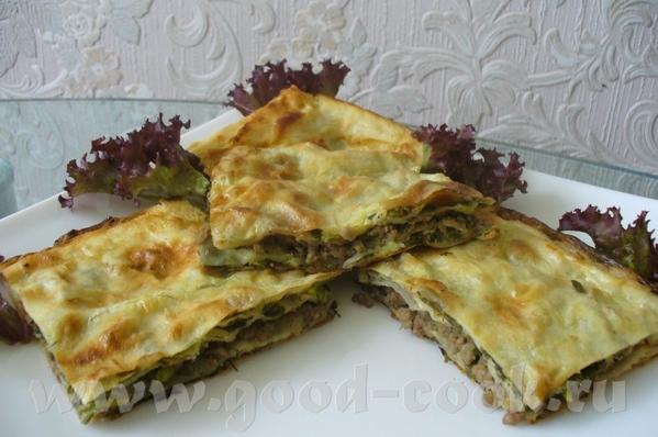 мясной пирог из лаваша состав 4 больших лаваша 0,5кг любого мяса 3 луковицы 200гр сметаны 200гр май...