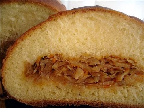 пирог с мясом кулебяка с капустой - 4