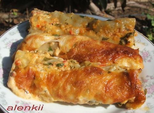 Канелони с мясом под сливочно-томатным соусом (от мужа) Какая вкуснота