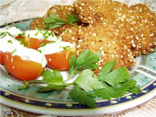 Куриная грудка в микс-маринаде с луком и помидорами Куриные шницелони Картофельные зразы с ливером... - 2