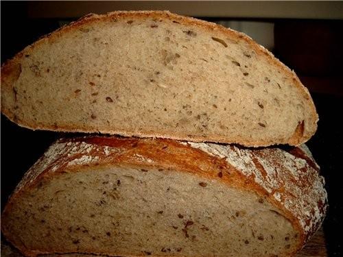Поставила закваску ещё вчера, не решив, какой хлеб буду печь