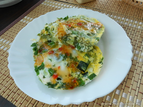 яичница с зеленью2
