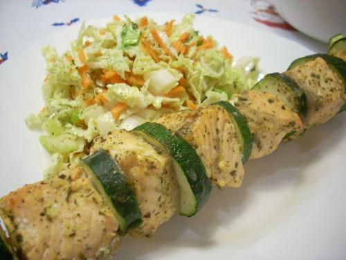 Шашлычки из лосося Треска, запечённая с хреном и сметаной Филе рыбы, запечённое с имбирём и карамбо...