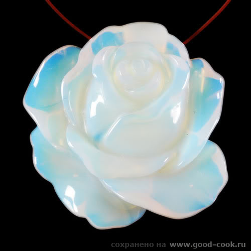 роза из благородного опала