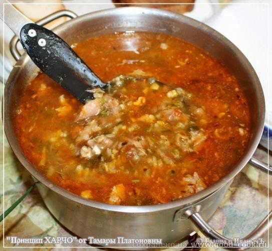 Харчо курицей пошаговый рецепт фото