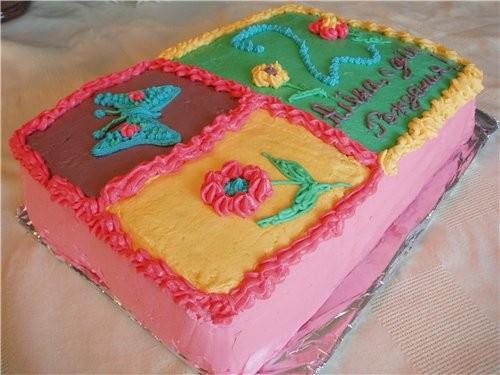 Вот такой тортик селала на день рождение моей дочи, назвала его Аленушка :о),рецепт потом добавлю в...
