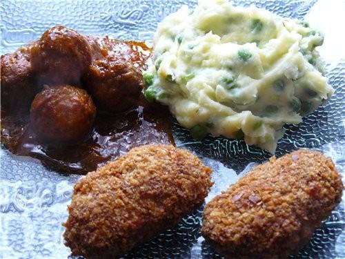 Рыбные зразы 0,5 кг рыбного филе 3-4 ломтика чёрствой булки 1 луковица 1 яйцо Для начинки: * 3-4 ва... - 3
