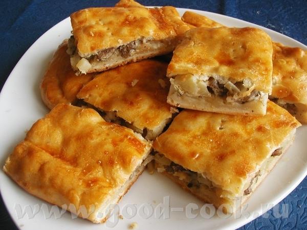 пирог с мясом и картошкой рецептом когда-то поделилась моя подруга Тесто: 0,5 литра кислого кефира...