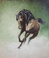 Уроки по рисованию Рисуем коня, урок от Петра урок по ирисам (на анг