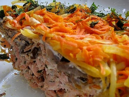 Салат из запеченной свеклы с брынзой  кулинарный рецепт