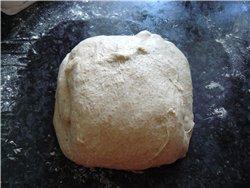 Вкусный хлеб с крупнопористым мякишем, хрустящей корочкой(пока тёплый) - 6