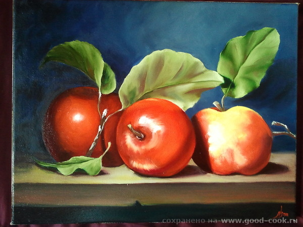яблочки 40х50 см х/м