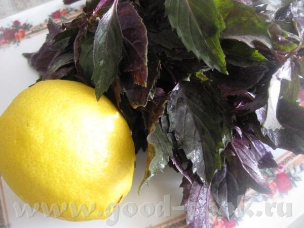 ОСВЕЖАЮЩИЙ НАПИТОК ИЗ БАЗИЛИКА С ЛИМОНОМ Очень приятный напиток с ароматом и вкусом базилика и лимо... - 3