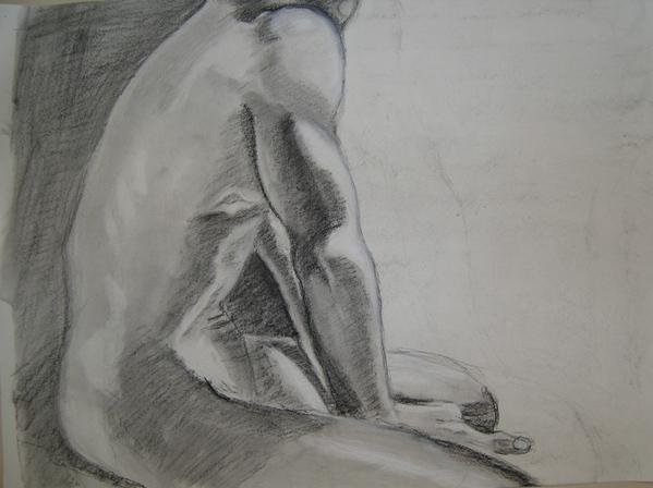 Ща я вам навалю своих рисунков Figure drawing типа надо было вписать в лист, чтобы фигура касалась... - 2