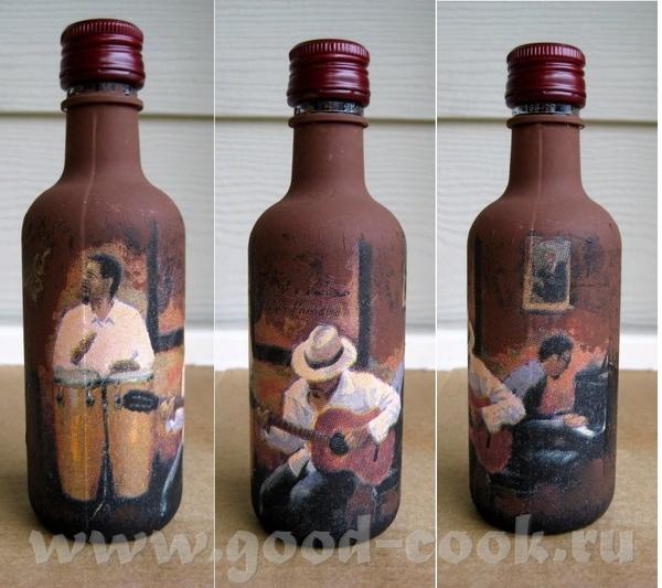 Купила я тут наборчик маленьких бутылочек с вином, чтобы практиковаться в декупаже, жаль только бут... - 5