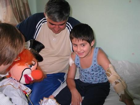Детки из Беслана в РДКБ(Москва)
