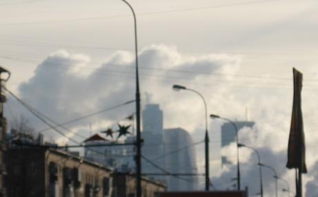 Сегодня в Москве было холодно, -20 днём Это не тучки и облака, это пар