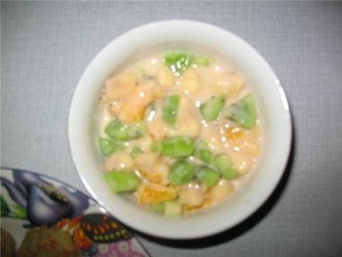 На ужин делала драники и фруктовый салатик - 2