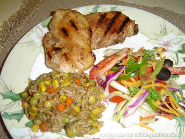Курица гриль с рисом
