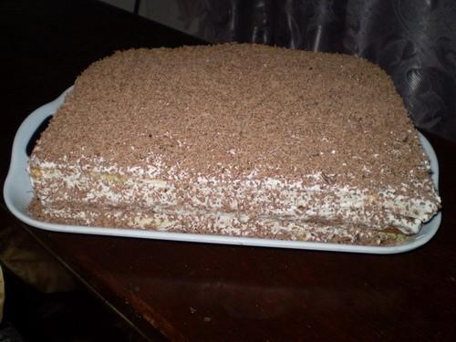 Торт Сметанно-ореховый Для теста: 5 яиц, 1 ст