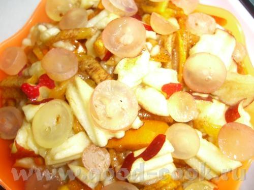 """Картошка """"в решёточку"""" Таскебаб из курицы с айвой Фруктовый салат """"Пуговка"""" - 6"""